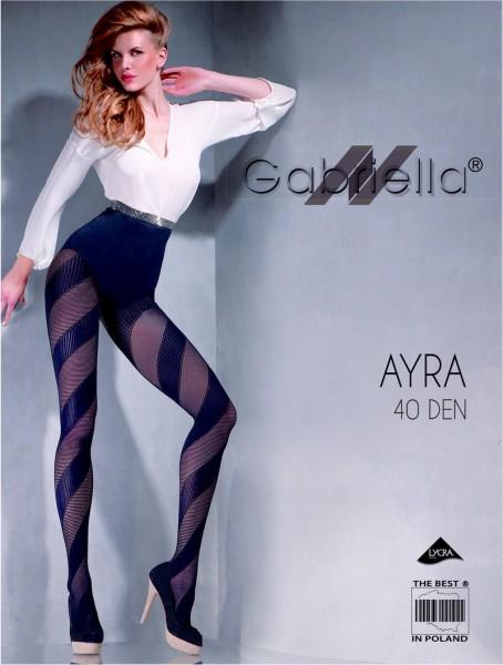 Gabriella Modische Strumpfhose mit diagonalen Streifen Ayra, 40 DEN