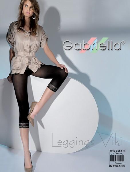 Gabriella Blickdichte Leggins aus Microfaser mit Ziersaum Viki