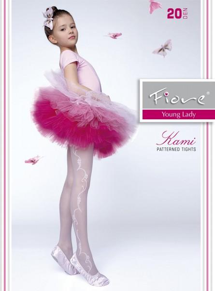 Elegante Strumpfhose für Mädchen mit blumigem Muster Kami 20 DEN