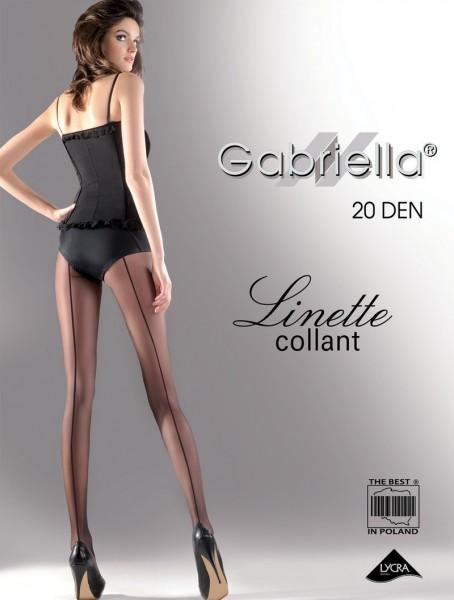 Gabriella Feinstrumpfhose mit rueckseitiger Naht Linette, 20 DEN