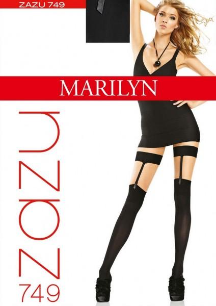 Marilyn ueberkniestruempfe in Strapsotpik Zazu 60 DEN