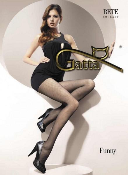 Gatta Feinstrumpfhosen in Netz-Optik Funny 02