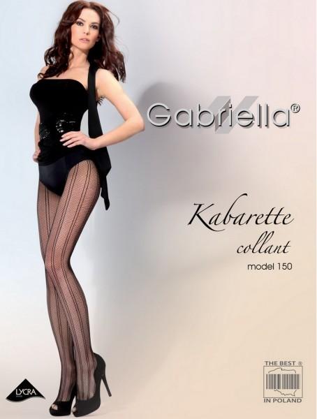 Gabriella Exklusive Netzstrumpfhose mit Streifenmuster