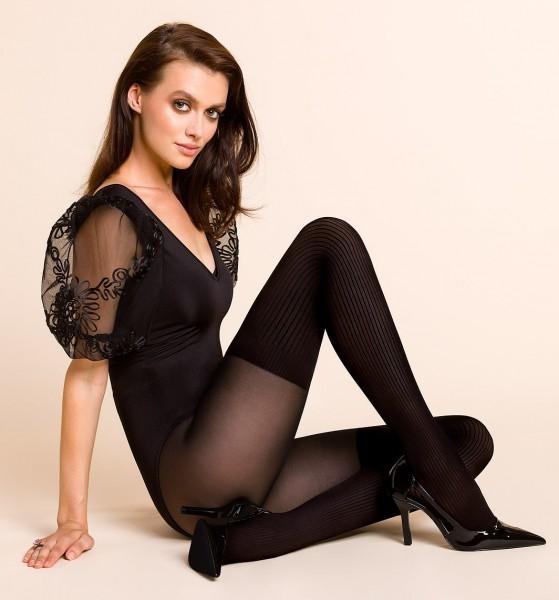 Gabriella Extravagante Strumpfhose im Overknee-Look Rita, 40 DEN