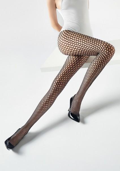 Marilyn Charly - Weiche Netzstrumpfhose mit nahtlosem Höschenteil