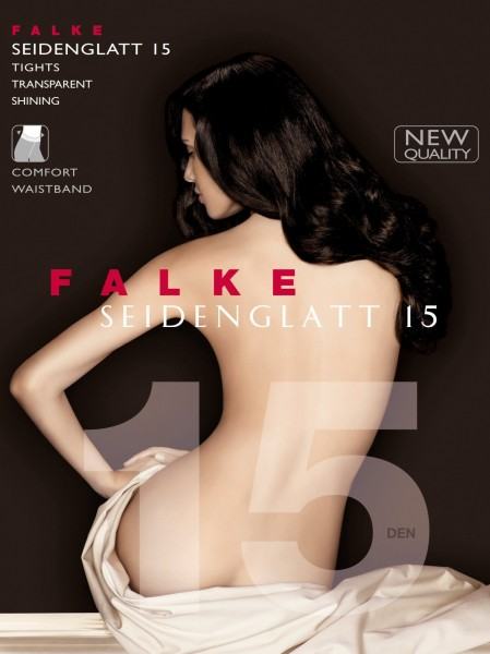 Falke Seidenglatt 15 - Transparente Strumpfhose mit seidigem Glanz