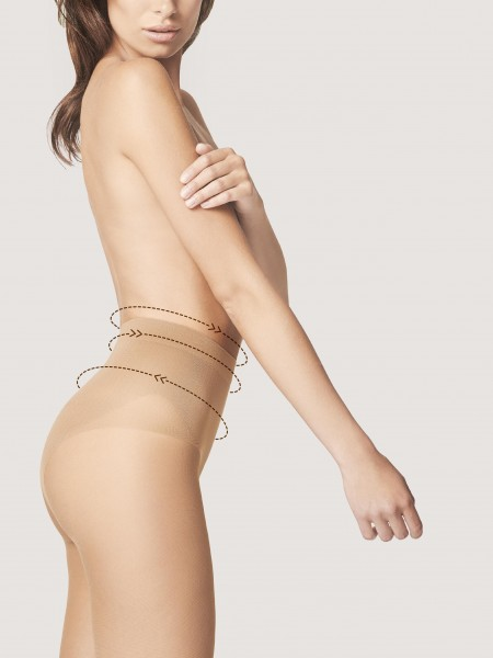 Fiore Bikini Fit 20 - Feinstrumpfhose mit figurformendem Bikini-Höschenteil
