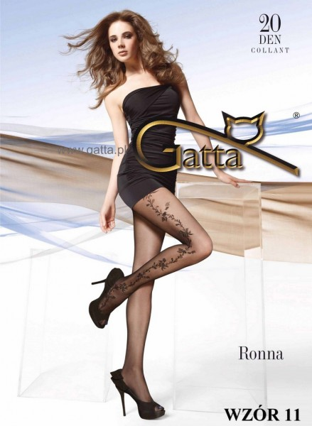 Gatta Strumpfhose mit blumigem Muster Ronna 11, 20 DEN