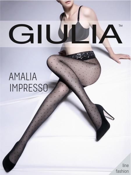 Giulia Amalia Impresso - Feinstrumpfhose mit Punktmuster und Spitzenbund
