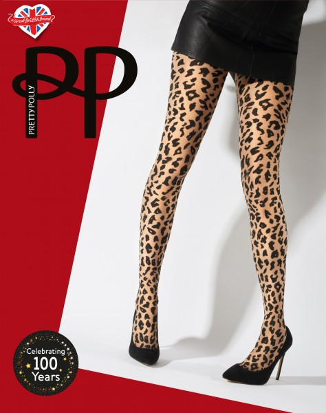 Pretty Polly Animal Design - Feinstrumpfhose mit angesagter Wildtier-Musterung