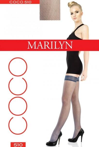 Marilyn Raffinierte halterlose Struempfe mit Netzstruktur Coco 20 DEN