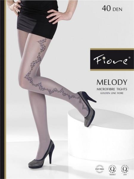 Fiore Microfaserstrumpfhosen mit Blumenmuster Melody 40 den