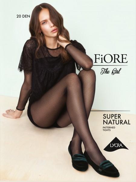Fiore Supernatural - Elegante Feinstrumpfhose mit Netzoptik