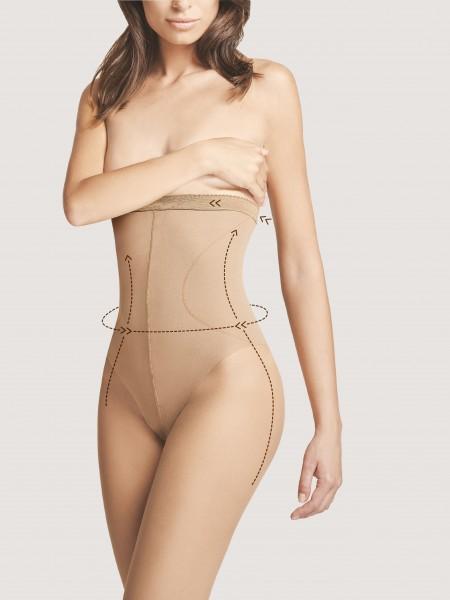 Fiore High Waist Bikini 20 - Feinstrumpfhose mit hohem, figurformendem Taillenbund