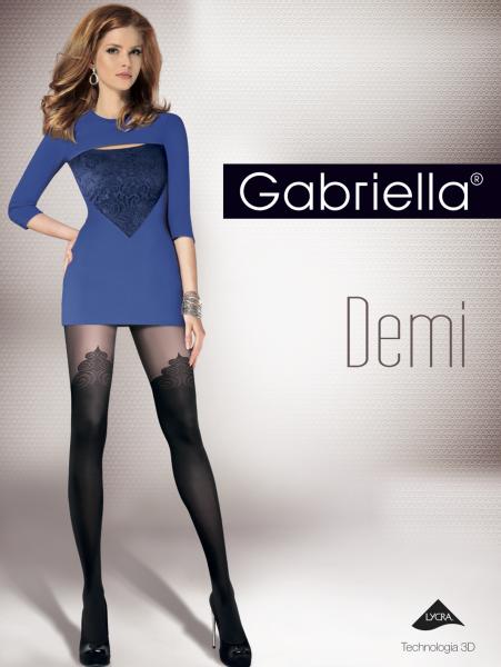Gabriella Extravagante Strumpfhose im Overknee-Look Demi, 40 DEN